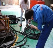 发往山西的钻机配件ZDY3200系统油管发货